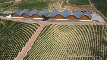Ysios Winery from the air. Laguardia, Basque Country, Spain