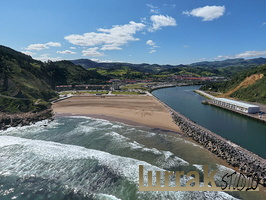 Aerial view Orio beach. Gipuzkoa, Basque Country, Spain