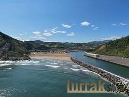Oria´s River Mouth. Orio Beach. Aerial view. Orio, Gipuzkoa, Basque Country, Spain