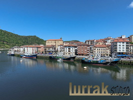 Fishing boats. Oria River. Orio, Gipuzkoa, Basque Country, Spain