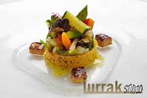 Vegetables-Foie-Bread