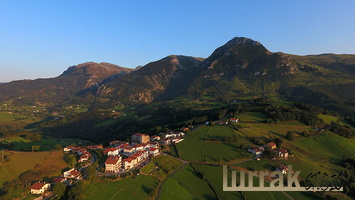 Aerial Shot. Aralar Natural Park, Basque Country