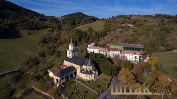 Aerial-Gotic-Style-Sanctuary-Basque-Country