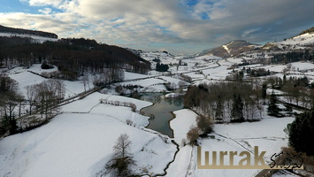 Aerial-Photo-Snowy-Valley-Berastegi-Gipuzkoa-Basque-Country