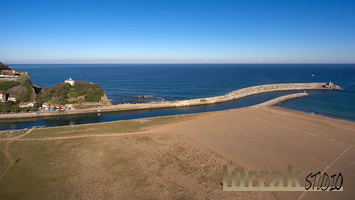 Drone-Beach-River-Lighthouse-Zumaia-Gipuzkoa-Basque-Country